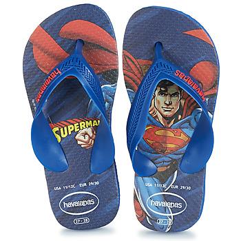 Topánky Chlapci Žabky Havaianas KIDS MAX HEROIS Modrá