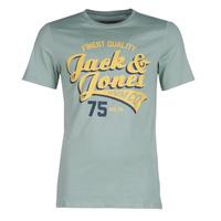 Oblečenie Muži Tričká s krátkym rukávom Jack & Jones JJELOGO Zelená