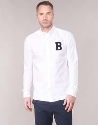 Oblečenie Muži Košele s dlhým rukávom Scotch & Soda REGULAR FIT AMS BLAUW OXFORD SHIRT WITH BADGE Biela