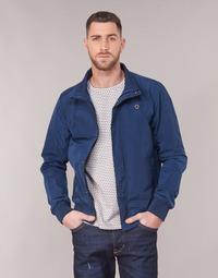 Oblečenie Muži Bundy  Scotch & Soda AMS BLAUW SIMPLE HARRINGTON JACKET Námornícka modrá