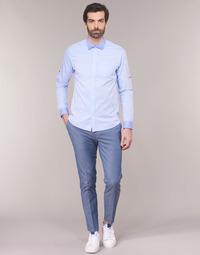 Oblečenie Muži Nohavice Chinos a Carrot Scotch & Soda RALSTONO Modrá