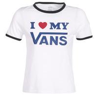 Oblečenie Ženy Tričká s krátkym rukávom Vans VANS LOVE RINGER Biela