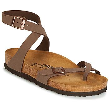 Topánky Ženy Sandále Birkenstock YARA Hnedá