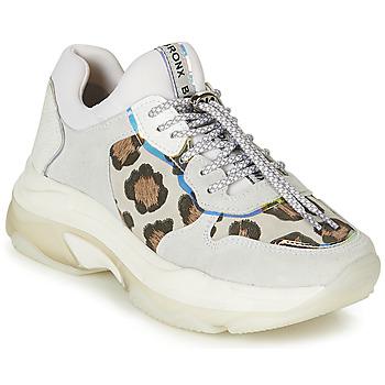Topánky Ženy Nízke tenisky Bronx BAISLEY Biela / Leopard