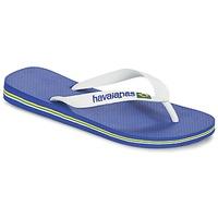 Topánky Žabky Havaianas BRASIL LOGO Biela / Námornícka modrá