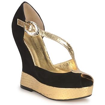 Topánky Ženy Sandále Terry de Havilland PENNY Čierno-zlatá