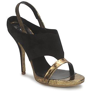 Topánky Ženy Sandále Gaspard Yurkievich T4 VAR7 Čierna / Zlatá