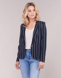 Oblečenie Ženy Saká a blejzre Vero Moda VMANNA Biela / Námornícka modrá