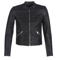 Oblečenie Ženy Kožené bundy a syntetické bundy Vero Moda VMKHLOE Čierna
