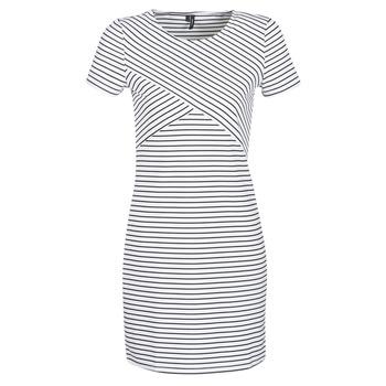 Oblečenie Ženy Krátke šaty Vero Moda VMVIGGA Biela / Čierna