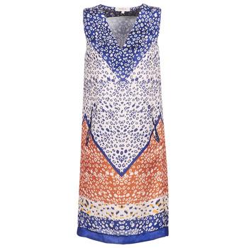 Oblečenie Ženy Krátke šaty Derhy FORTERESSE Biela / Modrá / Oranžová