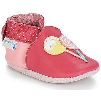 Topánky Dievčatá Detské papuče Robeez FUNNY SWEETS Ružová / Biela
