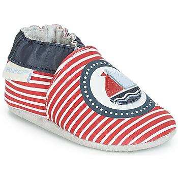 Topánky Chlapci Detské papuče Robeez MY CAPTAIN Červená / Modrá / Biela