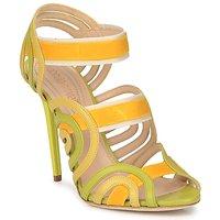 Topánky Ženy Sandále Roberto Cavalli RPS691 Zelená / Žltá