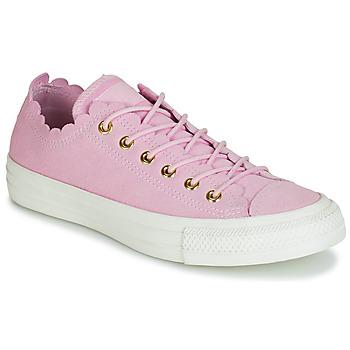 Topánky Ženy Nízke tenisky Converse CHUCK TAYLOR ALL STAR FRILLY THRILLS SUEDE OX Ružová