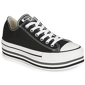 Topánky Ženy Nízke tenisky Converse CHUCK TAYLOR ALL STAR PLATFORM EVA LAYER CANVAS OX Čierna