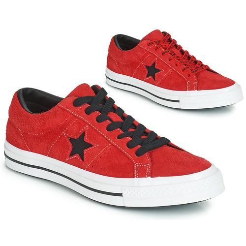 cb63b8d340f9f Converse ONE STAR DARK STAR VINTAGE SUEDE OX Červená - Bezplatné ...