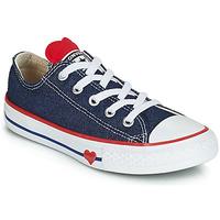 Topánky Dievčatá Nízke tenisky Converse CHUCK TAYLOR ALL STAR SUCKER FOR LOVE DENIM OX Modrá
