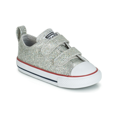 Topánky Dievčatá Nízke tenisky Converse CHUCK TAYLOR ALL STAR 2V SPARKLE SYNTHETIC OX Šedá