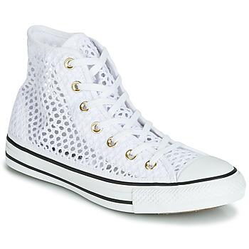 Topánky Ženy Členkové tenisky Converse CHUCK TAYLOR ALL STAR HANDMADE CROCHET HI Biela