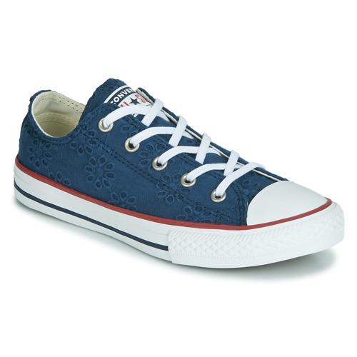 Topánky Dievčatá Nízke tenisky Converse CHUCK TAYLOR ALL STAR BROADERIE ANGLIAS OX Námornícka modrá