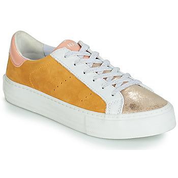 Topánky Ženy Nízke tenisky No Name ARCADE Biela / Zlatá / Žltá
