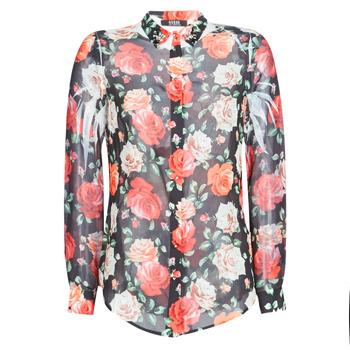 Oblečenie Ženy Košele a blúzky Guess CLOUIS Čierna / Viacfarebná