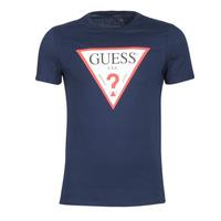 Oblečenie Muži Tričká s krátkym rukávom Guess ORIGINAL Námornícka modrá