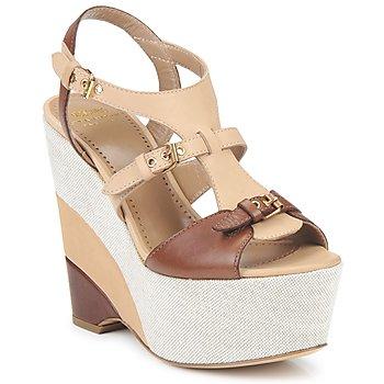 Topánky Ženy Sandále Moschino Cheap & CHIC STERLIZIA Béžovo-hnedá