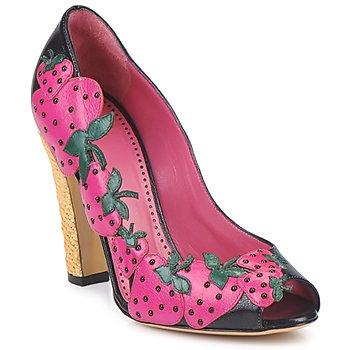 Topánky Ženy Lodičky Moschino Cheap & CHIC ALBIZIA Ružovo-čierno-zelená
