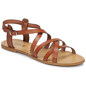 Topánky Ženy Sandále So Size IDITRON Hnedá