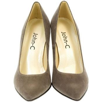 Topánky Ženy Lodičky John-C Dámske sivé lodičky CYNIA sivá