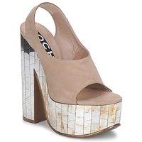 Topánky Ženy Sandále Rochas RO18175 Tabaková hnedá