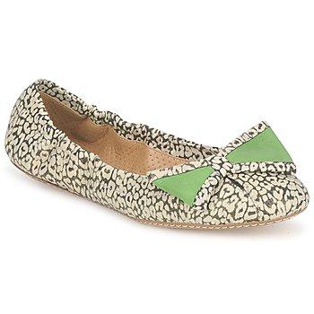 Topánky Ženy Balerínky a babies Maloles BLANCHE čierna / Biela / Zelená
