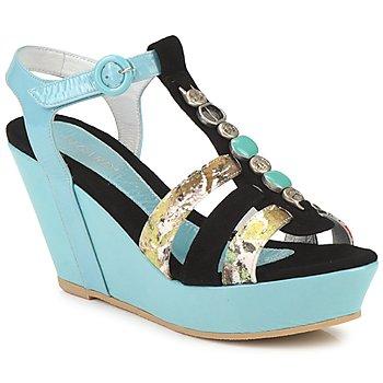 Topánky Ženy Sandále Regard RAFAVO Čierna / Modrá