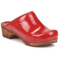 Topánky Ženy Nazuvky Sanita CLASSIC PATENT červená