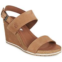 Topánky Ženy Sandále Timberland CAPRI SUNSET WEDGE Hnedá