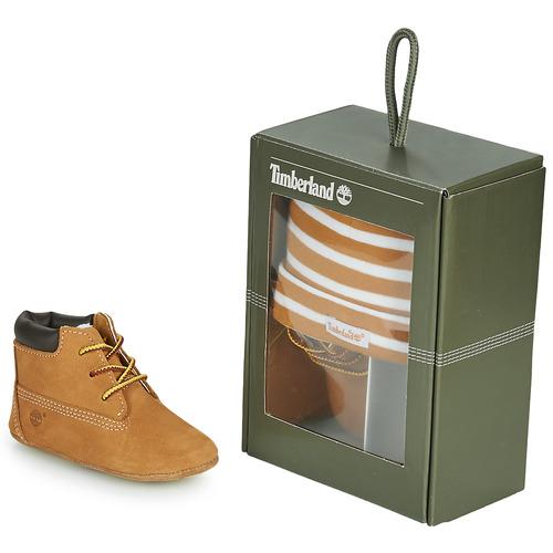Topánky Deti Papuče Timberland CRIB BOOTIE WITH HAT Žltá obilná