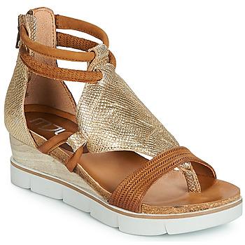 Topánky Ženy Sandále Mjus TAPASITA Zlatá / Ťavia hnedá