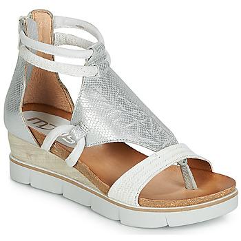 Topánky Ženy Sandále Mjus TAPASITA Biela / Strieborná