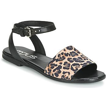 Topánky Ženy Sandále Mjus CHAT LEO Čierna / Leopard