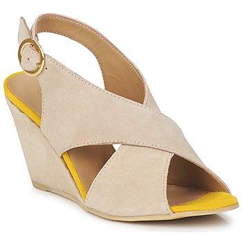 Topánky Ženy Sandále Pieces OTTINE SHOP SANDAL Hnedošedá