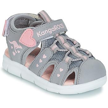 Topánky Dievčatá Sandále Kangaroos K-MINI Šedá / Ružová