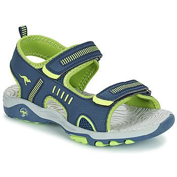 Topánky Chlapci Sandále Kangaroos K-LOGAN Námornícka modrá / Zelená
