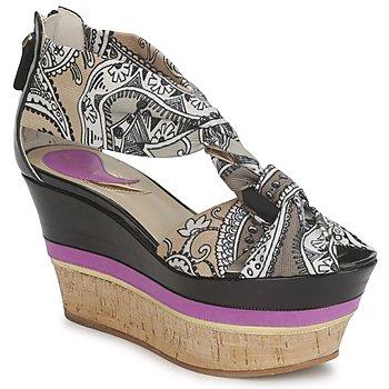 Topánky Ženy Sandále Etro 3467 šedá / čierna / Fialová