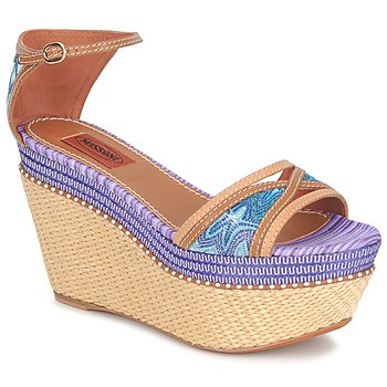 Topánky Ženy Sandále Missoni TM26 Modrá / Hnedá
