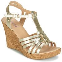 Topánky Ženy Sandále André FABULEUSE Zlatá