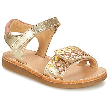 Topánky Dievčatá Sandále André SEVILLE Zlatá