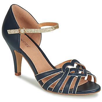 Topánky Ženy Sandále André CAGLIARI Námornícka modrá