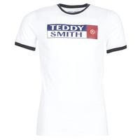Oblečenie Muži Tričká s krátkym rukávom Teddy Smith TOZO Biela